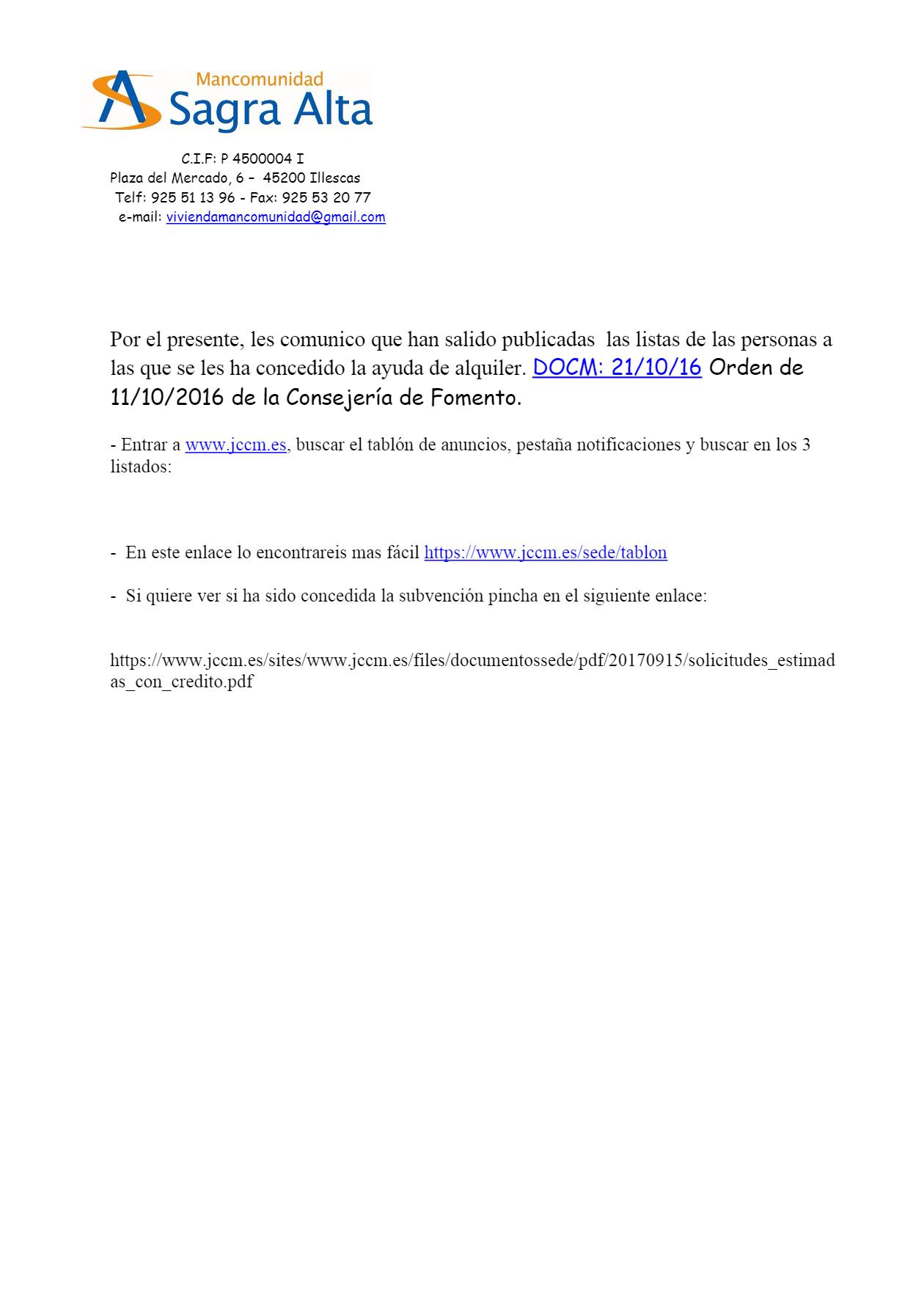 Ayuntamiento de cedillo del condado ayudas al alquiler - Oficina virtual inem ...